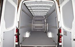 Zabudowa busa:boki szary plastik+szara podłoga+montaż SPRINTER Long