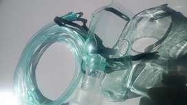 Nebulizer Mask. Ambulance, nursing. Oxygen Cylinder tank face mask