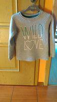 Szara pikowana bluza Wild Love 5.10.15 roz.152