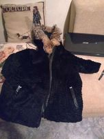 Шуба куртка из стриженного под каракуль бобрика Италия