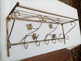 Вешалка пристенная кованая напольная настенная стойка вішак настінний