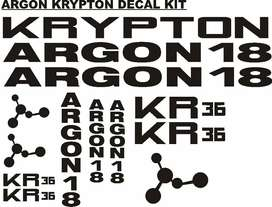 ARGON 18 bicycle frame and rim decals stickers