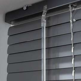 25mm Aluminium Gun Metal Venetian Blind