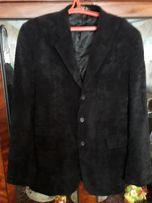 ПРОДАМ микровельветовый черный пиджак на высокого парня (195-198см.)
