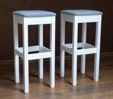 stołek barowy hoker stołki barowe drewniane taborety wysokie białe