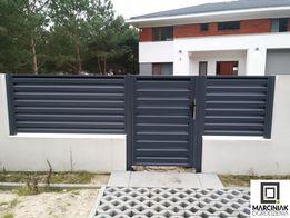 Furtka ogrodzenie nowoczesne brama żaluzjowa
