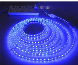 Blue LED Strip Lights 220V with Connector Plugs, Pins, End Caps NEW