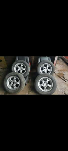 13 inch PCD mags and tyres for sale