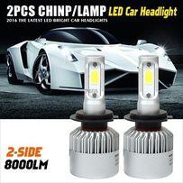 Автомобильные светодиодные лампы дальнего и ближнего света H7/H4