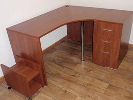 Стол угловой с тумбочкой Enran (компьютерный, письменный, офисный)