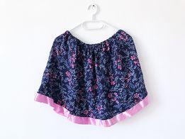 Spódnica spódniczka krótka floral w kwiaty kwiatki S M 36 38 mini lato