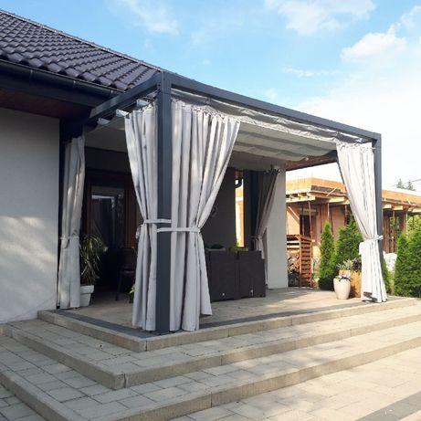 Nowoczesna pergola ogrodowa. Zadaszenie tarasu wykonane ze stali. Ocel Bochnia - image 6