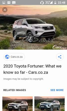 I'm looking for a Toyota fortuner in running condition