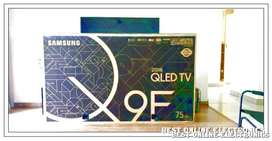 "Samsung 75"" QLED TV in the box"