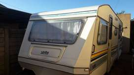 SPRITE SUNWAY 1989 MODEL WITH RALLY TENT WITH SIDES GROUND SHEET AND C