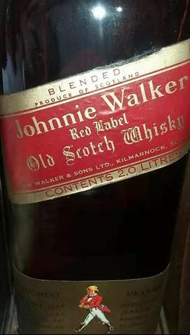 Johnny Walker 3 collectors bottles onstands 1975 unopened
