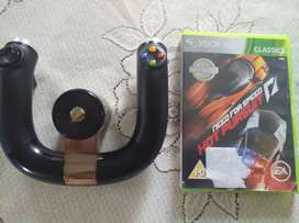 Xbox 360 steering wheel plus game
