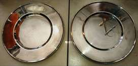 Silver Platter - Round d=33cm set of 2