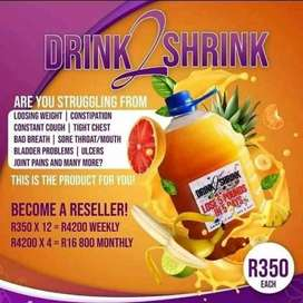 Drink 2 shrink juice available