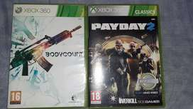 Bodycount and Payday 2 Xbox 360