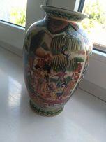 Elegancki wazon z motywem chińskim porcelana