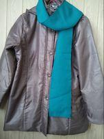 Кофейная женская куртка пальто пуховик