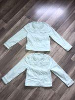 Kurtki kurtka jeansowa miętowa 128 cm C&A Palomino katany katana
