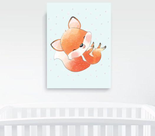Obrazek A4 plus ramka, Baby Fox Pszczyna - image 4