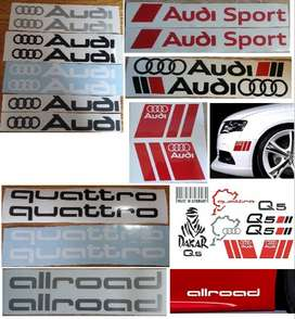 Audi decals stickers - various designs to choose from