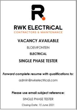 ELECTRICAL - SINGLE PHASE TESTER