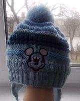 Дитяча шапка з вушками на від 4 місяців до року