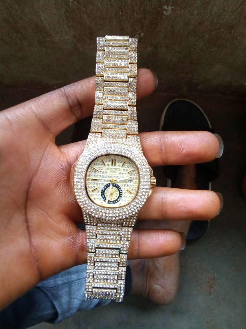 Iced chained rolex watch 0