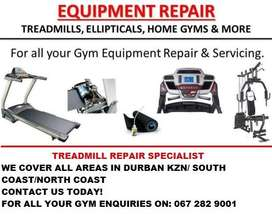 Treadmill Repairs Durban KZN South Coast North Coast