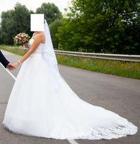 Очень красивое свадебное платье + туфли