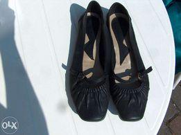 czarne klasyczne balerinki 41 = 27cm