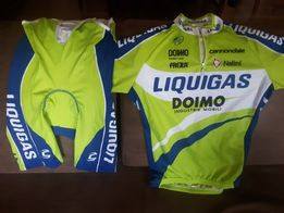 S) Oryginalny Komplet kolarski Nalini (Liquigas)