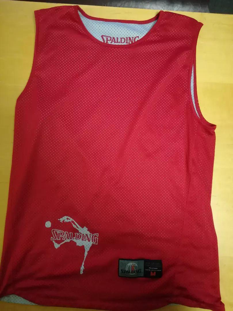 SPALDING košarkaški dres za košarku M crveno/sivi 0