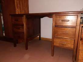 Old oak wood desk