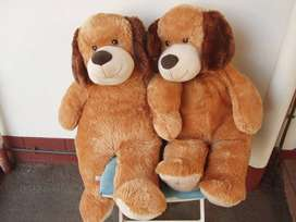 Giant Teddy Bears - a Pair - soft and Cuddly