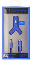 Автомобильное з/у Y-Charge (2хUSB) + шнур Syncable (USB-microUSB)