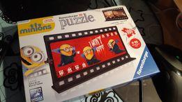 Puzzle Ravensburger 3d minions minionki 108 8+ plastikowe kadr