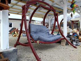 Fotel wiszący, huśtawka ogrodowa SwingyOne siedzisko szare WYPRZEDAŻ