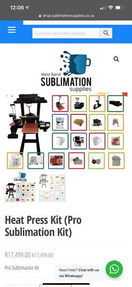 Brand New Sublimation Machine available for business