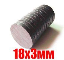 Магниты круглые, заготовки для магнитиков 18х3мм