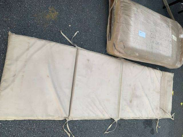 2x Brand New, Pool Lounger Canvas, Cushions, Stone Coloured