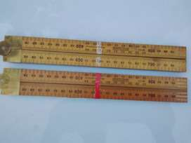 Old Pair Of Duty Wooden Folding Rulers