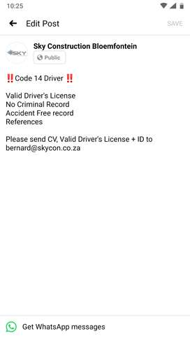 Code 14 Driver