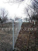 Забор из Сетки рабицы оцинкованной