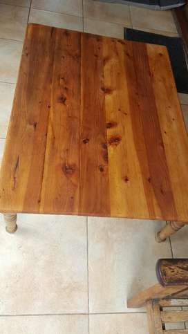 Solid hardwood coffee table 130cm 98cm