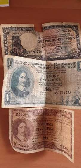 Old South African bank notes